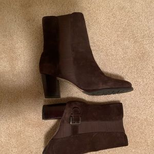 Cole haan brown suede boots